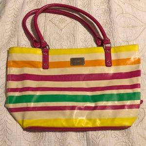 Nine West vinyl tote bag